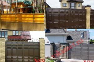 Филенчатые ворота Каскад в городе Заречный