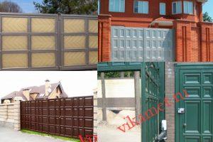 Филенчатые ворота Каскад в городе Зерноград