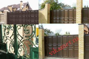 Филенчатые ворота Каскад в городе Жирновск
