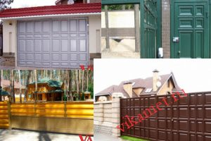 Филенчатые ворота Каскад в городе Жуковка