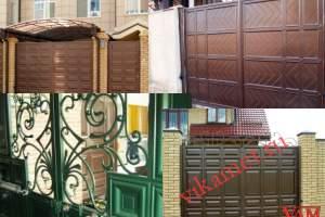 Филенчатые ворота Каскад в городе Златоуст