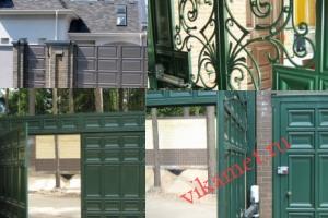 Филенчатые ворота Каскад в городе Зверево