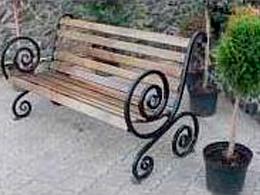 Скамейка Французская лоза большой вензель