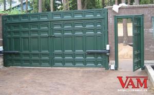 На ворота установлена автоматика Roger