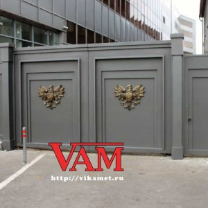 Ворота в московском банке на Электрозаводской