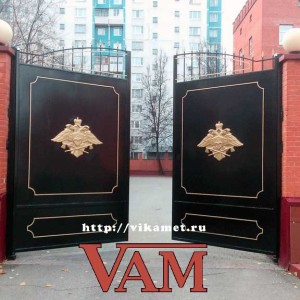 Ворота ВикторияАртМеталл для Спецстрой