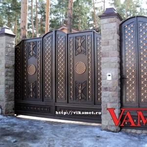 Ворота ВикторияАртМеталл в Троицком
