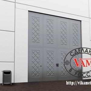 Листы Раскат для промышленных ворот с калиткой